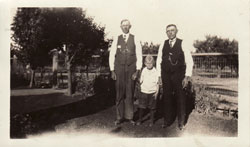 Three generations in the Magels Family: ( l. to r.) Claus, Lewis, Louis c. 1925